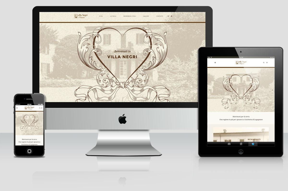 sito web Villa Negri