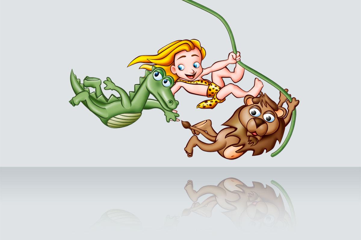 Illustrazione: Tarzan, Gocciole Pavesi