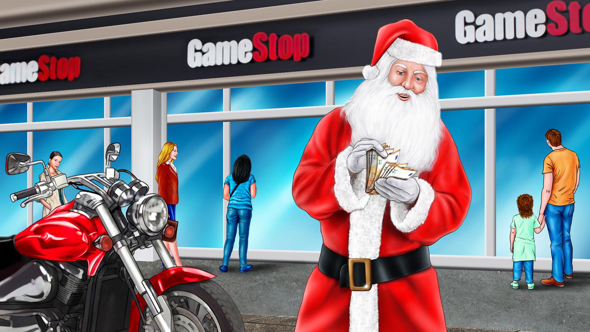 Storyboard GameStop Babbo Natale