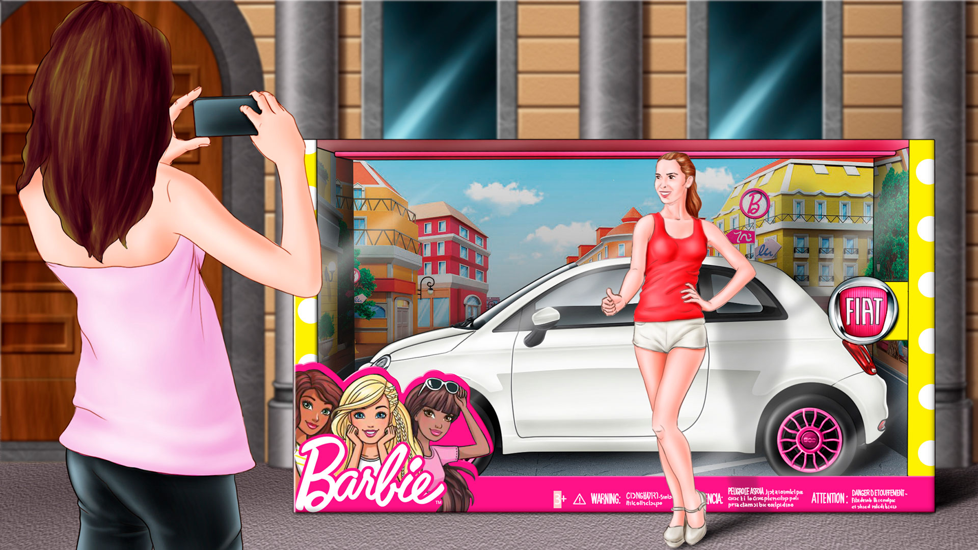 Storyboard Barbie Fiat 500