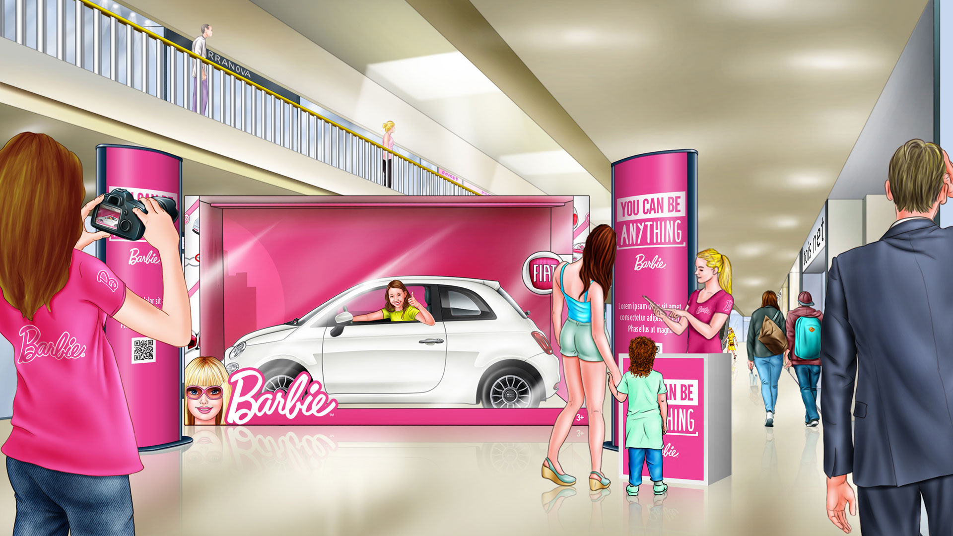 Storyboard Barbie Fiat 500