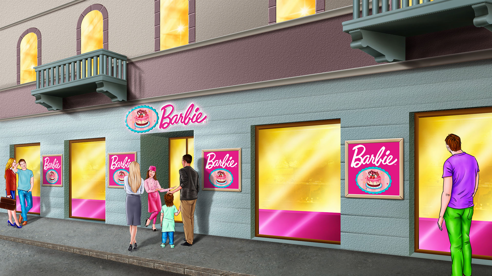 Storyboard Barbie Pasticceria